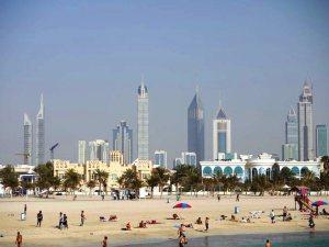 Beach and Dubai city[1]